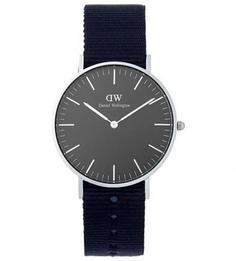 Часы с темно-синим текстильным браслетом Daniel Wellington