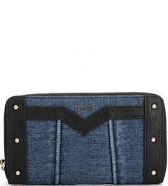 Синий текстильный кошелек на молнии Diesel