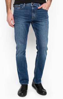 Синие прямые джинсы с заломами Calvin Klein Jeans