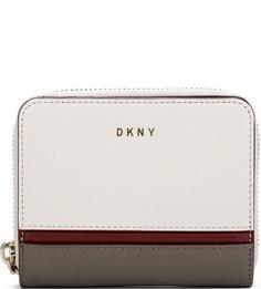 Кожаный кошелек на кнопке Dkny