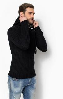 Черный свитер с капюшоном Alcott
