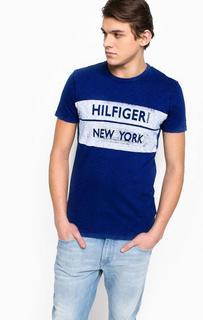 Хлопковая футболка с принтом Hilfiger Denim