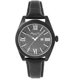 Часы с браслетом из сафьяновой кожи Kenneth Cole