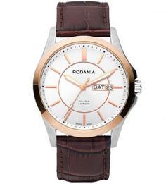 Часы круглой формы с кожаным ремешком Rodania