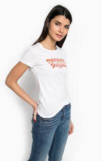 Белая хлопковая футболка с короткими рукавами Levis®