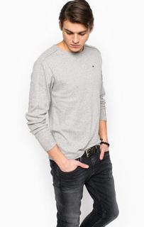 Хлопковая футболка с длинными рукавами Hilfiger Denim