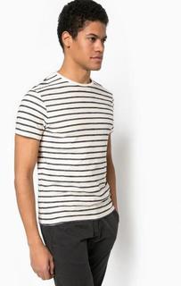 Хлопковая футболка в полоску Selected
