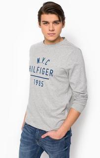 Хлопковая футболка с длинными рукавами Tommy Hilfiger
