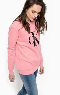 Розовый хлопковый свитшот Calvin Klein Jeans