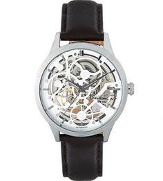 Часы с коричневым кожаным браслетом Kenneth Cole