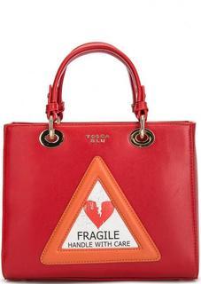 Красная сумка с нашивкой Tosca BLU