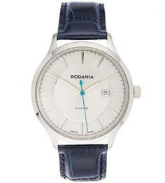 Часы с кожаным ремешком с выделкой под рептилию Rodania