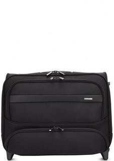 Текстильный чемодан на колесах с двумя отделами Verage