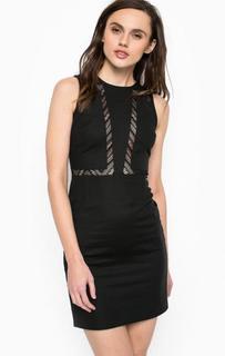 Облегающее платье с полупрозрачными вставками Calvin Klein Jeans