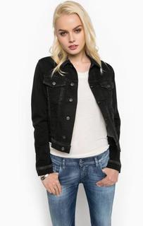 Серая джинсовая куртка с карманами Diesel