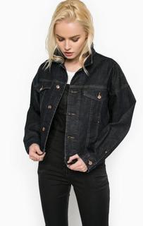Джинсовая куртка с застежкой на болты Diesel