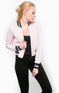 Легкая розовая куртка на молнии Tom Tailor