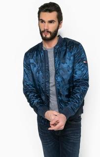 Синяя куртка на молнии Hilfiger Denim