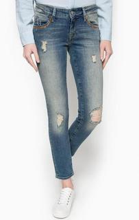 Укороченные рваные джинсы скинни Mavi