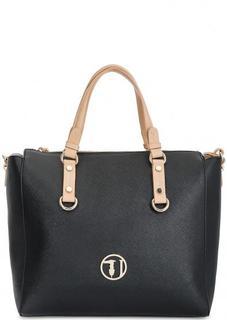 Черная сумка с одним отделом Trussardi Jeans