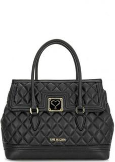 Черная сумка с короткими ручками Love Moschino