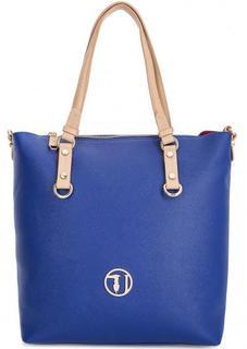 Вместительная сумка синего цвета Trussardi Jeans