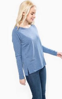 Синяя футболка с разрезами по бокам Marc Opolo