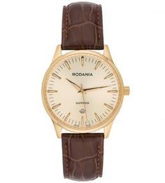 Часы с коричневым кожаным браслетом Rodania