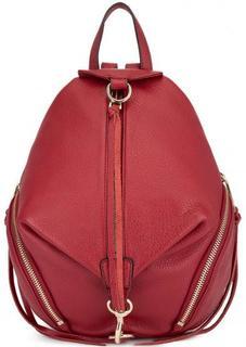 Кожаный красный рюкзак Rebecca Minkoff