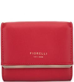 Красный кошелек с двумя отделами для купюр Fiorelli