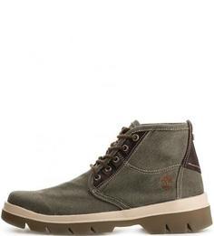 Текстильные ботинки цвета хаки Timberland