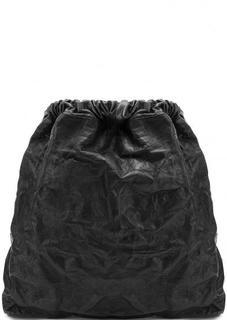 Сумка-рюкзак из натуральной кожи черного цвета Io Pelle