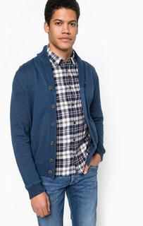 Синий хлопковый кардиган на пуговицах Pepe Jeans