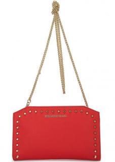 Красная сумка с металлическим декором Trussardi Jeans