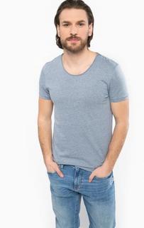 Синяя футболка с круглым вырезом Mavi