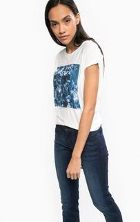 Футболка с декоративной нашивкой Calvin Klein Jeans
