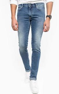 Синие джинсы скинни Gas