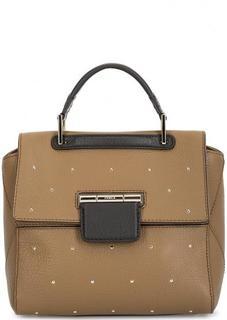 Кожаная сумка с металлическим декором Furla