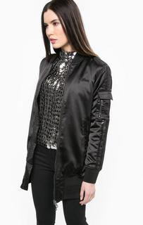 Куртка на двухзамковой молнии с пайетками Guess
