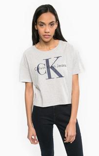 Хлопковая футболка оверсайз Calvin Klein Jeans