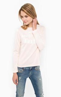 Розовый свитшот с принтом Mavi