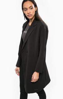 Черное пальто с лацканами Calvin Klein Jeans