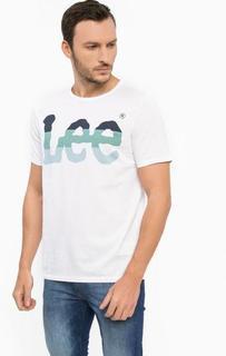 Белая футболка с круглым вырезом Lee