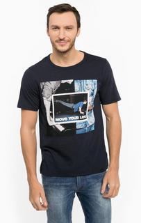 Хлопковая футболка с круглым вырезом Lee