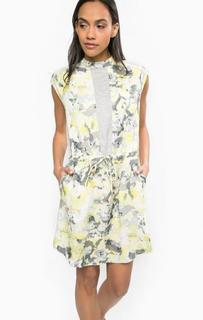 Короткое платье из вискозы без рукавов Calvin Klein Jeans