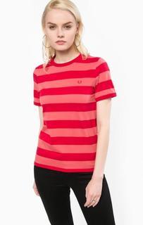 Хлопковая футболка в полоску Fred Perry