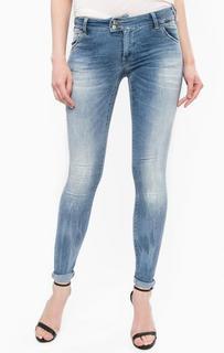 Зауженные джинсы с заломами MET