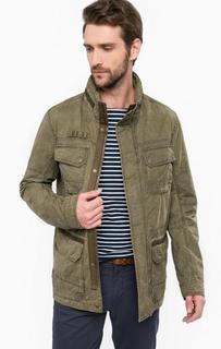 Куртка цвета хаки с карманами Tom Tailor