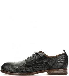 Туфли из натуральной кожи с выделкой под рептилию Moma