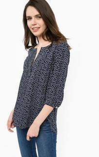 Синяя блуза из вискозы More & More